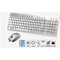 Qtronix iOne Gemini N2AMU Aluminum Multimedia USB Keyboard and Mini Optical Mouse