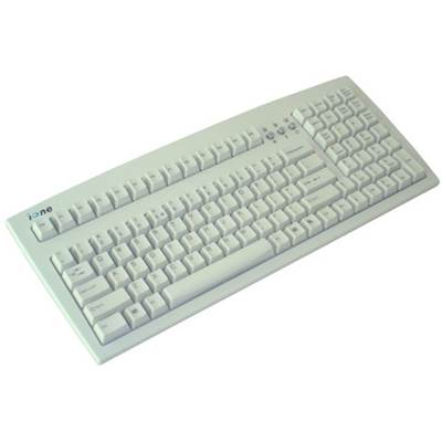 Qtronix iOne Scorpius 2K Compact Standard Keyboard - White  (PS / 2)