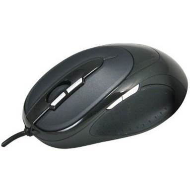 Qtronix iOne Lynx S2 7-Button Laser Gaming Mouse - Black