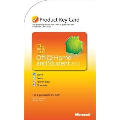 Microsoft Office Home and Student 2010 Product Key Card (PKC)