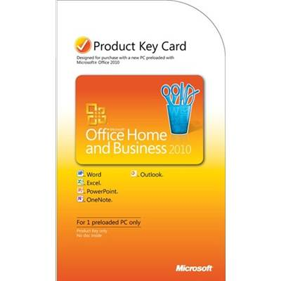 Microsoft Office Home and Business 2010 Product Key Card (PKC)