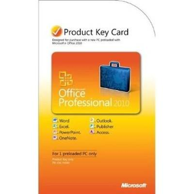 Microsoft Office Professional 2010 Product Key Card (PKC)