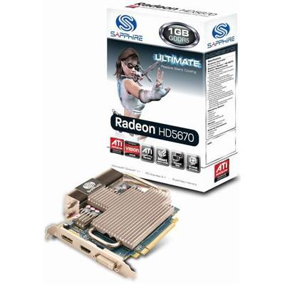 Sapphire Radeon HD 5670 100289UL 1GB GDDR5 PCI Express 2.0 x16 Video Card
