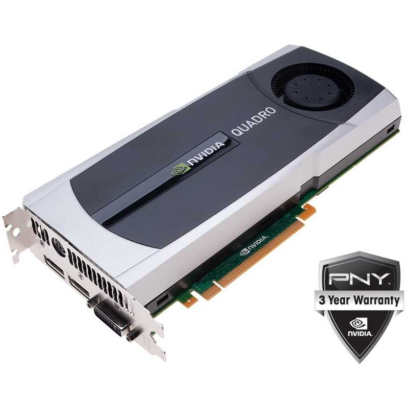 PNY NVIDIA Quadro 6000 VCQ6000-PB 6GB GDDR5 PCI Express 2.0 x16 Workstation Video Card