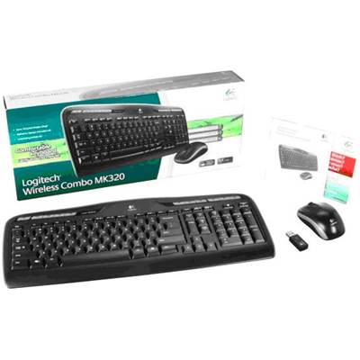 Logitech 920-002836 Wireless Desktop MK320 2.4GHz Keyboard and Mouse