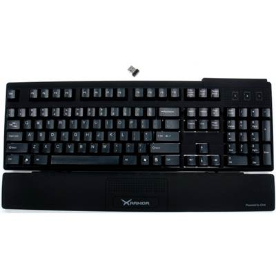 Qtronix iOne XArmor U9W 2.4GHz RF Wireless Mechanical Keyboard