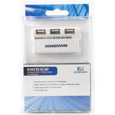Kingwin KWCR-632 Hi-Speed USB 2.0 Mini Combo Card Reader