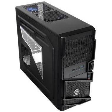 Thermaltake VN400A1W2N Commander USB 3.0 Mid Tower Computer Case - Black