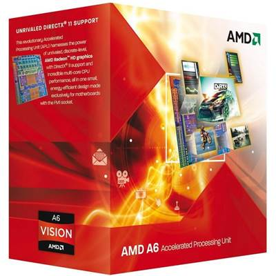 AMD A4-3300 Llano 2.5GHz 1MB L2 Cache Socket FM1 Dual-Core Desktop Processor AD3300OJGXBOX