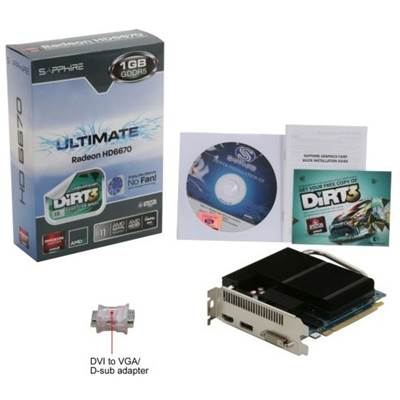 Sapphire Ultimate Radeon HD 6670 100326UL 1GB GDDR5 PCI Express 2.1 x16 Video Card