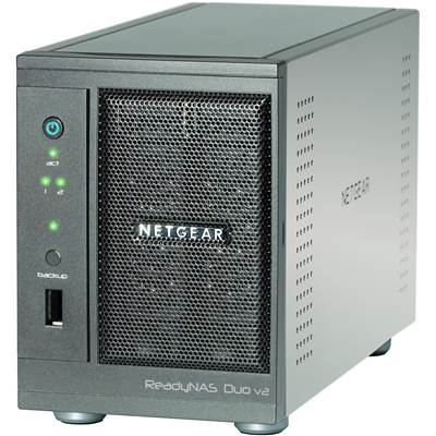 NETGEAR ReadyNAS Duo v2 RND2000-200NAS Diskless 2-bay NAS