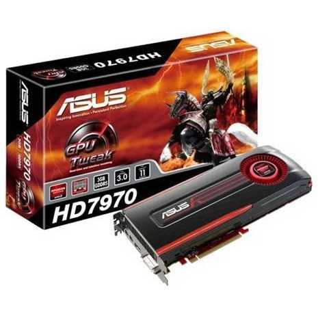 ASUS Radeon HD 7970 3GB GDDR5 PCI Express 3.0 x16 Video Card (HD7970-3GD5)