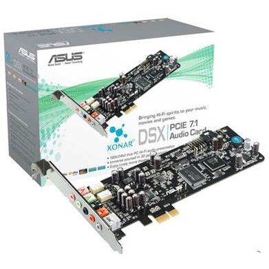 ASUS Xonar DSX 7.1 Channels PCI Express Sound Card
