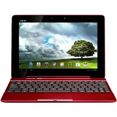 "ASUS Transformer Pad TF300 10.1"" 32GB Android 4.1 Tablet w  /  Keyboard Docking Station - Red"