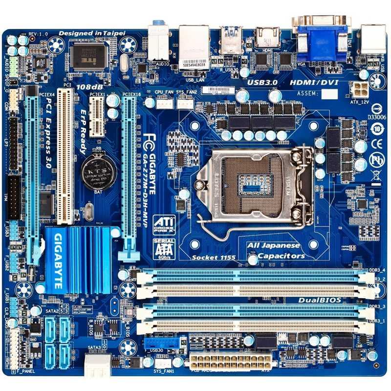 Gigabyte Z77 LGA 1155 Micro ATX Motherboard (GA-Z77M-D3H-MVP)