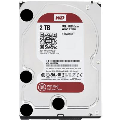 "Western Digital Red WD20EFRX 2TB 3.5"" SATA 6.0Gb / s NAS Hard Drive"