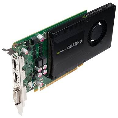 PNY NVIDIA Quadro K2000 VCQK2000-PB 2GB GDDR5 PCI Express 2.0 x16 Workstation Video Card