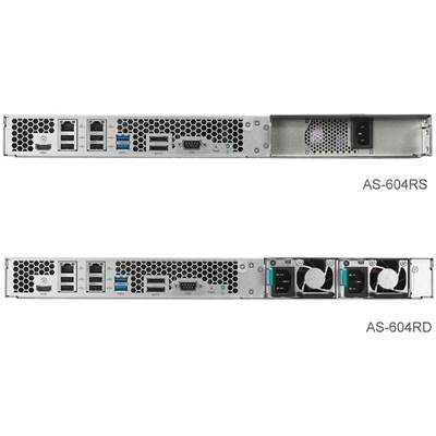 ASUSTOR AS-604RS / Rail 4-bay 1U Rackmount NAS w /  Rail Kit