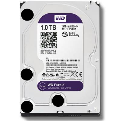 "Western Digital Purple WD10PURX 1TB 3.5"" SATA 6.0Gb / s Hard Drive"