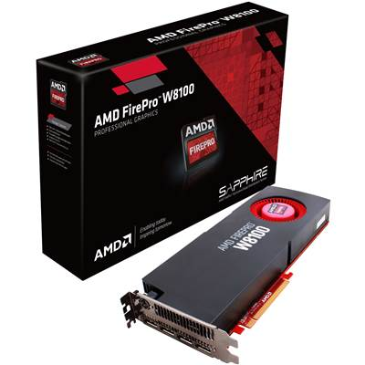 AMD FirePro W8100 100-505738 8GB GDDR5 PCI Express 3.0 x16 CrossFire Supported Workstation Video Card