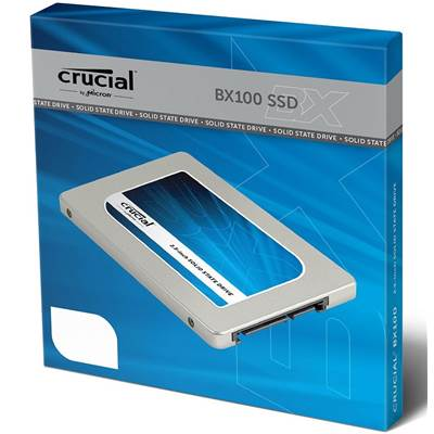 "Crucial BX100 CT500BX100SSD1 500GB 2.5"" SATA III Micron 16nm MLC Internal Solid State Drive (SSD)"