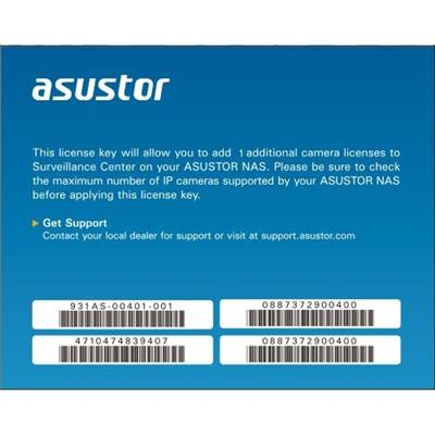 ASUSTOR AS-SCL01 1CH Camera License for all models