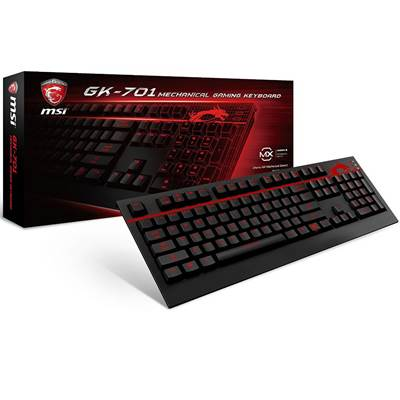 MSI USB 2.0 Backlit Mechanical Gaming Keyboard (GK-701)