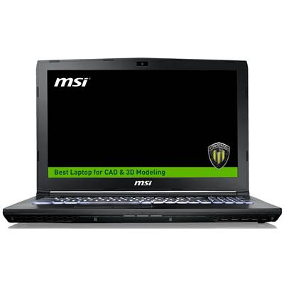 "MSI WE62 7RJ-1833US 15.6"" Full HD Workstation Laptop  /  NVIDIA Quadro M2200 4GB & Windows 10 Professional (Kabylake)"