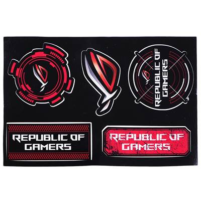 ASUS Republic of Gamers (ROG) Stickers (not for sale, NB bundle only)
