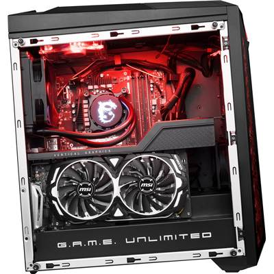 *** DISCONTINUED *** MSI Infinite X VR8RF-008US (Mystic Light RGB LED) Gaming Desktop w  /  Core i7-8700K & GTX 1080Ti 11GB GDDR5 (Unlocked CPU + Water Cooling Thermal Kit Included)