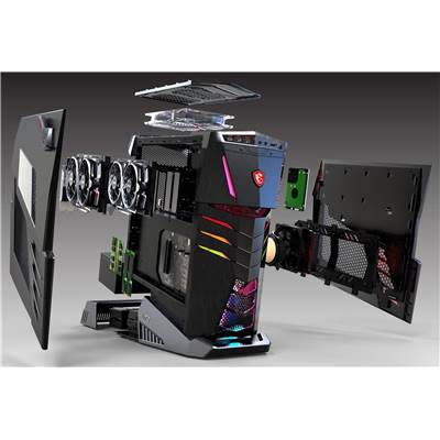 MSI Aegis Ti3 8RD SLI-011US (Mystic Light RGB LED) Gaming PC w  /  Core i7-8700K & GTX 1070 (SLI) 16GB GDDR5 (Coffee Lake - Mystic Light RGB LED)