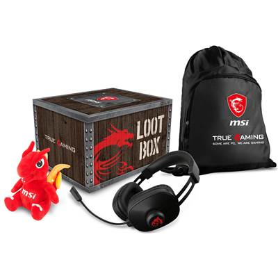 MSI Loot Box 2018 (Gaming Headset, Dragon Doll, String Bag) (Not for sale)