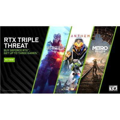 NVIDIA GeForce RTX Triple Threat Game Bundle (Battlefield V, Anthem and Metro Exodus)