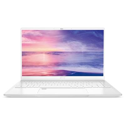 "MSI Prestige 14 A10SC-051 (Mineral White) 14"" Thin Bezel Full HD IPS-Level (100% sRGB) Gaming Laptop w /  GTX 1650 Max-Q 4GB GDDR5 (Comet Lake Core i7-10710U)"