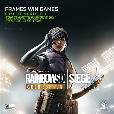 NVIDIA GeForce RTX Game Bundle - Rainbow Six Siege Gold Edition
