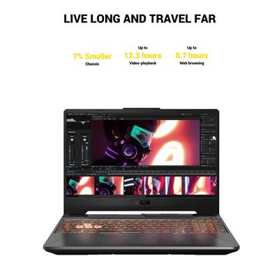 "(OPEN-BOX) ASUS TUF A15 (TUF506IV-AS76) 15.6"" 144Hz Full HD Gaming Laptop w /  RTX 2060 6GB GDDR6 (Ryzen 7 4800H & 90Whr Battery)"