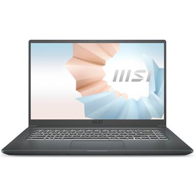 "MSI Modern 15 A10M-460 (Carbon Gray) 15.6"" Thin Bezel Full HD IPS-Level Laptop (Core i3-10110U)"