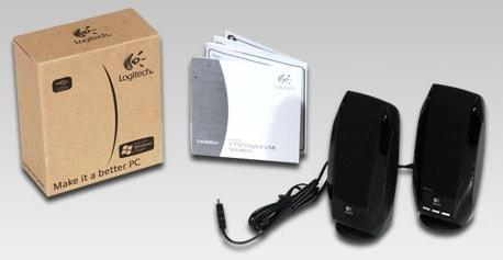 logitech 980 000028 s 150 1 2 watts 2 0 usb speaker system. Black Bedroom Furniture Sets. Home Design Ideas