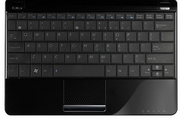 A picture of the keyboard layout of the Eee PC 1005HA from ExcaliberPC