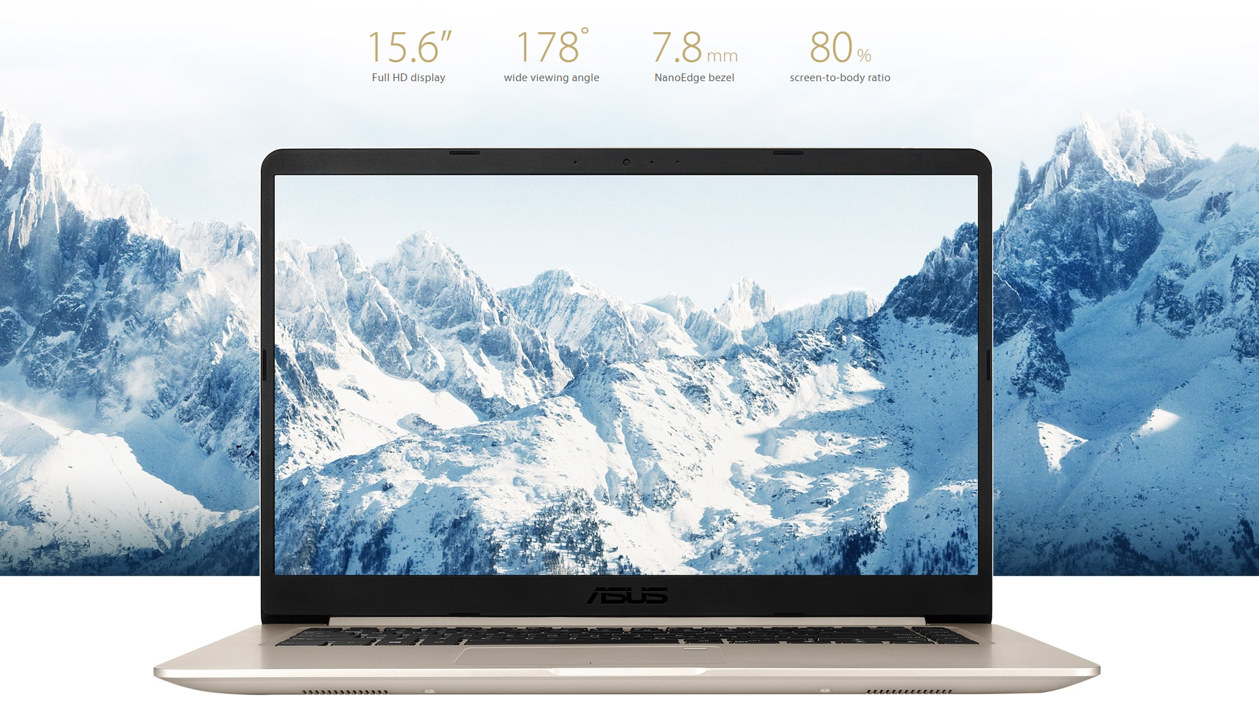 Image result for asus s510ua NanoEdge display with ultra-narrow bezel