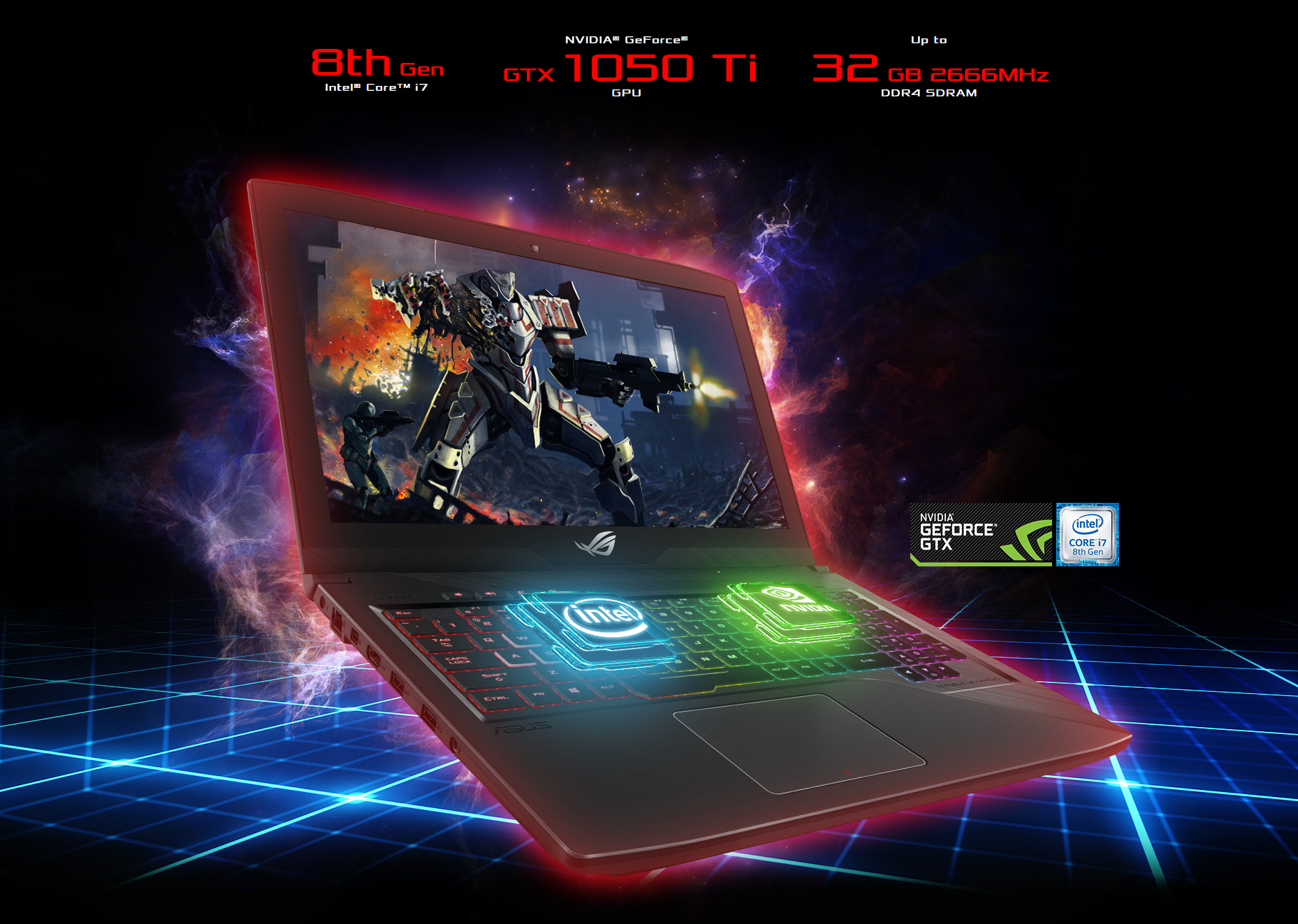 Asus Rog Strix Gl503ge 156 120hz 3ms Core I7 8750h Gtx 1050ti Tuf Fx504gm I5 8300h 8gb 128gb 1tb Sshd Gtx1060 6gb W10 Specifications May Vary According To Configuration