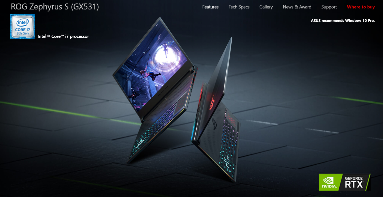Details about ASUS ROG Zephyrus S GX531GX 15 6